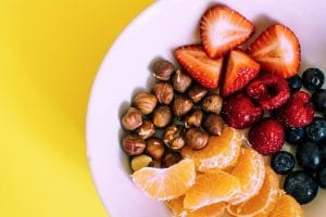 A Plate of Healthy Fruits